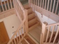 Oak staircase nearing completion