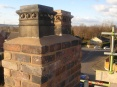 Repaired chimney stack restored to its former glory