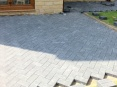 Patio area approximately 30msq laid using 50mm pacers