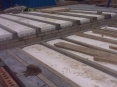 A completed block and beam floor construction ready for 100mm concrete slab to be laid on top