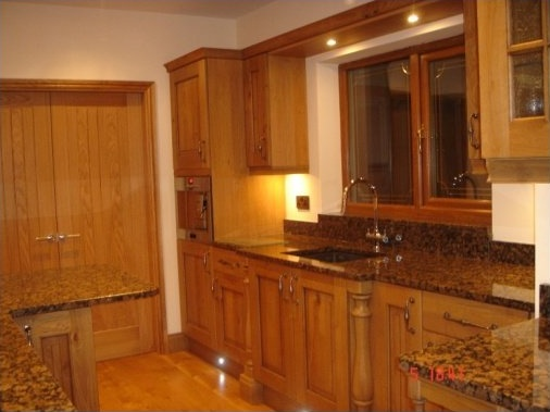 Plinth lighting and double oak doors