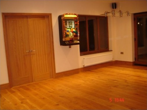 Solid oak doors and oak flooring
