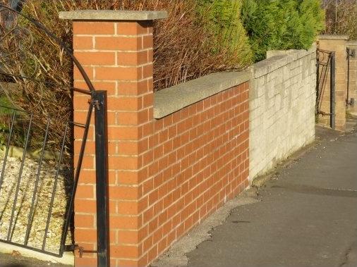 Boundary wall - Photo taken ten years later